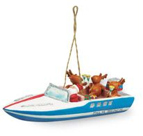 Resin Ornament - SS Party Boat
