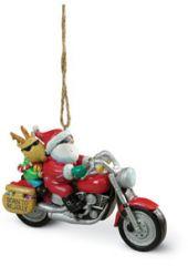 Resin Ornament - Santa on a Harley