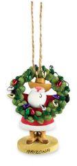 Resin Ornament - Santa with Cactus Wreath