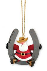 Resin Ornament - Santa Horseshoe
