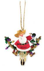 Resin Ornament - Santa Longhorn