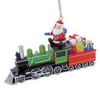 Resin Ornament - Locomotive with Santa