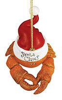 Resin Ornament - Santa Claws Crab