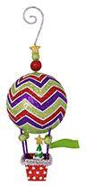 Glittered Metal Ornament - Hot Air Balloon