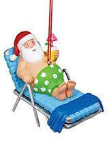 Resin Ornament - Santa in Lounge Chair