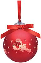Light-up Frosted Glass Ball Ornament - Lobster