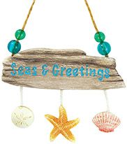 Resin Ornament - Driftwood with Shells - Seas & Greetings