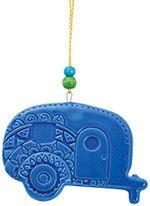 Stamped Ceramic Ornament - Camper