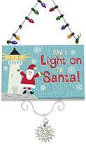 Sign Ornament - Leavea Light on for Santa - Lighthouse