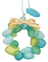 Resin Ornament -Sea Glass Wreath