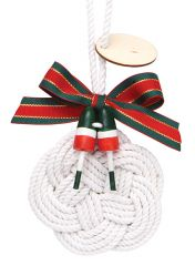 Handcrafted Ornament - Sailor Knot Wreath