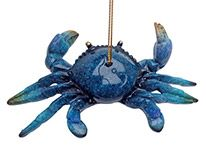 Glossy Resin Ornament - Blue Crab