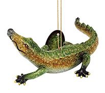 Glossy Resin Ornament - Alligator