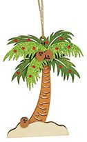 Laser Cut Wood Ornament - Palm